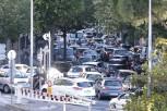 Bouchons dans le centre ville de Nice pendant l'euro 2016