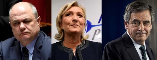 Le Roux Le Pen Fillon